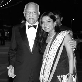 Dr Prathap C. Reddy, Chairman, Apollo Hospitals Group, India, with Ms Malini N. Menon, Founder & Managing Director, IEDEA at the ABLF Awards 2013