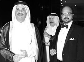 H.E. Sheikh Fahad Bin Mohammad Bin Jabor Al Thani, Chairman of the Board of Directors, and Dr R. Seetharaman, Group CEO, Dohabank, Qatar, at the ABLF Awards 2013