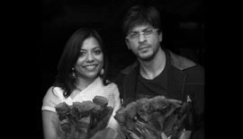 Ms Malini N. Menon, Founder & Managing Director, IEDEA, with Shah Rukh Khan
