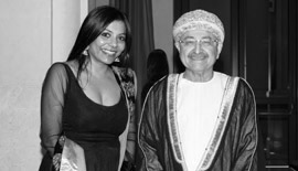 Ms Malini N. Menon, Founder & Managing Director, IEDEA, with H.E. Maqbool Ali Sultan, Former Minister of Commerce & Industry, Sultanate of Oman at the ABLF Awards 2012