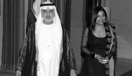 H.H. Sheikh Nahayan Mabarak Al-Nahayan, Minister of Culture, Youth and Community Development, UAE, with Ms Malini N. Menon, Founder & Managing Director, IEDEA, at the ABLF Awards 2012