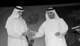 H.E. Mohammed Al Shaibani, Director General of His Highness The Ruler's Court, Dubai, UAE, and Majid Saif Al Ghurair, CEO, Al Ghurair Group, UAE, at the ABA ME 2007