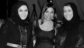 Ms Malini N. Menon, Founder & Managing Director, IEDEA, with Ms Fatima Al Jaber, COO and Executive Director, Al Jaber Group, UAE and Emirati Advocate Ms Nashwa Al Qubaisi at the ABLF Awards 2012