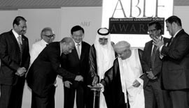 Lamp lighting ceremony at the ABLF Awards 2012