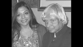 Ms Malini N. Menon, Founder & Managing Director, IEDEA, with Dr APJ Abdul Kalam, Former President of India