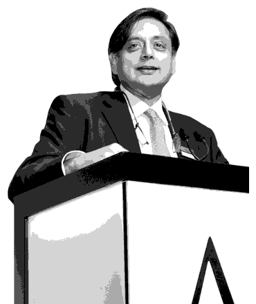 Dr Shashi Tharoor at the ABLF 2015 - an event concept by IEDEA