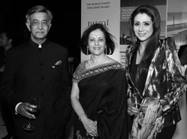 Mr and Mrs B.N. Kalyani, Chairman, Kalyani Group and Bharat Forge Limited, India, with Ms Vandana Luthra, Founder & Mentor, VLCC, India