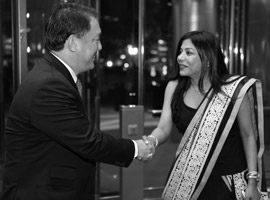 H.E. Kittiratt Na-Ranong, Deputy Prime Minister and Minister of Finance, Thailand, with Ms Malini N. Menon, Founder & Managing Director, IEDEA at the ABLF Awards 2013