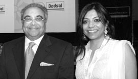 Ms Malini N. Menon, Founder & Managing Director, IEDEA, with Mr Rajen Kilachand, Chairman, Dodsal Group, UAE