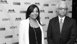 Ms Malini N. Menon, Founder & Managing Director, IEDEA, with Mr TKA Nair, Advisor to Prime Minister of India, at the Asian Business Leadership Forum 2012