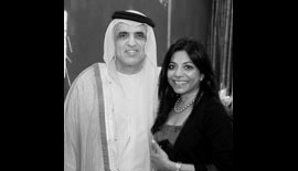 Ms Malini N. Menon, Founder & Managing Director, IEDEA, with H.H. Sheikh Saud Bin Saqr Al Qassimi, Ruler of Ras Al Khaimah, UAE