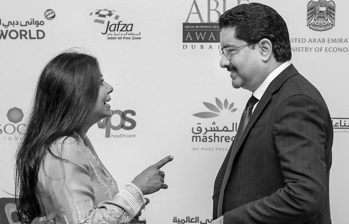 Malini Menon with ABLF 2019 Global Asian Award Recipient Kumar Mangalam Birla