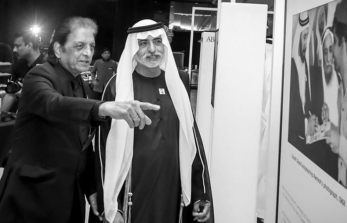 Ramesh Shukla with H.H. Sheikh Nahayan Mabarak Al Nahayan